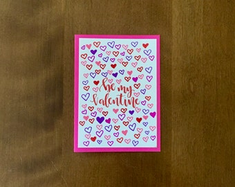 Card - Be my Valentine