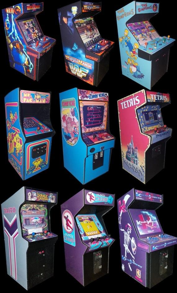 3d Printed Mini Arcade Cabinet Displays Mortal Kombat I And