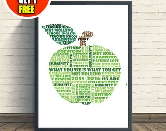 Teacher art print, gift idea for teacher, end of term