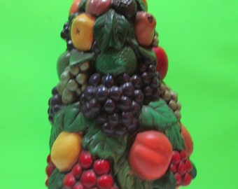 TOPIARY HOLLAND MOLD  Colorful  Fruit w/Pedestal