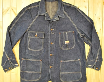 Vintage 1950's/60's PENNY'S PAYDAY CHORE Barn Work Jacket / Union Made / Sanforized / Retro Collectable Rare