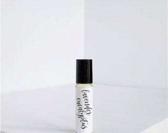 Lavender Eucalyptus - Natural Perfume Oil - Vegan Perfume- Roller ball - Roll on