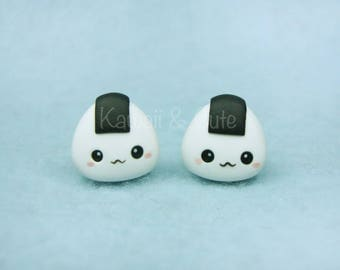 Earrings Stud Onigiri