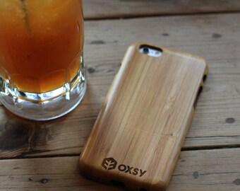 OXSY Bamboo Genuine Wood Case - Apple iPhone 7