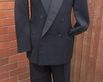 Mens Vintage 1950s Dinner Suit Tuxedo Daks Barathea