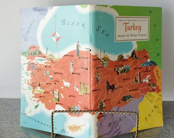 1972 Turkey Travel Booklet  American Geographical Society Unused Stickers Include Around the World Travel Guide