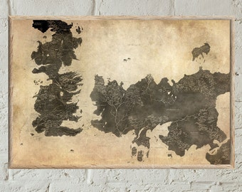 Houses of Westeros and Essos map ,Map of The Seven Kingdoms and the free cities, full map of Game of Thrones, map of Westeros Houses