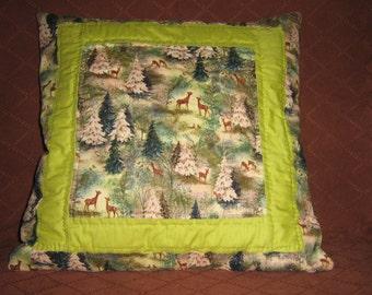 Winter Scene Decorator Pillow