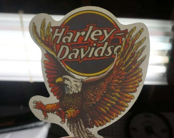 Classic Harley Davidson Eagle Window Decal