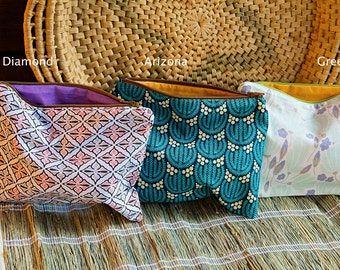 Single Zipper Pouch -Organic Cotton