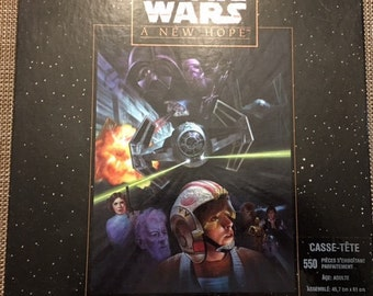 """Vintage Star Wars A New Hope 550 piece puzzle 1995 (18""""* 24"""" )"""