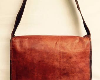Leather Satchel // Leather bag // Leather laptop satchel // Leather Artist's Satchel // mens leather bag