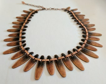Vintage Renoir Matisse Statement Necklace // Copper Enamel // Occasion Wedding // Gifts For Her // Jewellery // Jewelry // Short Spike