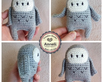 Crochet Amigurimi Owl / Pocket Owl / Plush Crochet Toy / Stuffed Owl / Crochet Owl Plush / Mini Crochet Animals / Woodland Amigurumi Bird