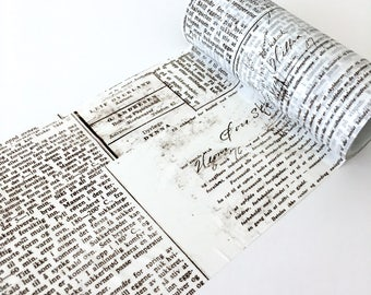 Old News Paper Collage Washi Tape
