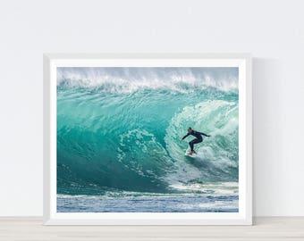 Surf Print, Surf Art, Surfing Print, Surfing Poster, Surf Decor, Surfing Art, Beach Deocr, Surfboard Wall Art, Wave Print, coastal #C27