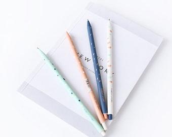0.5mm Forest Story / Cute Retractable Blue Gel Ink Pens, Kawaii, Blue Gel Pen,Kawaii Stationery, Korean Stationery, Gel Pen Set