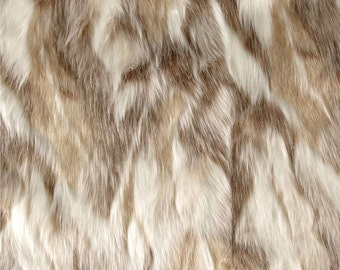 Forest Fox Platinum Faux Fur Fabric