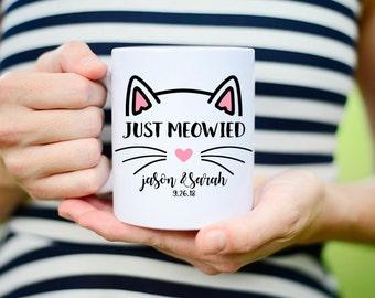 Just Meowied Mug, Just Married Cat Mug, Im Getting Meowied Mug, Im Getting Meowied, Cat Getting Married Mug, Cat Marriage Mug, Cat Pun Mug