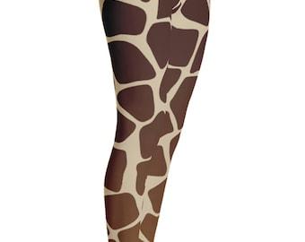 Giraffe Leggings - Giraffe Costume - Halloween Costume - Womens Leggings - Giraffe Tights - Kids Leggings