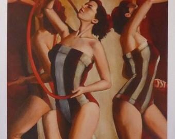 sienna tinted memories - print - by professional figurative artist Anita Dewitt