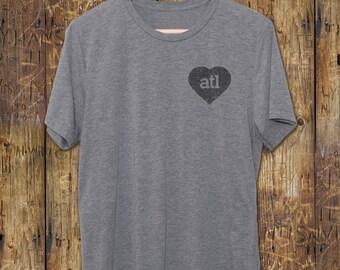 atl shirt - Atlanta Vintage T-Shirt - ATL love heart tshirt- Atlanta Gifts - Georgia - Vintage Graphic Tees - ATL T Shirts