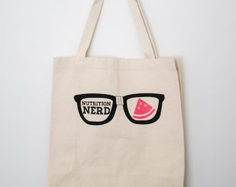Nutrition Nerd Tote Bag