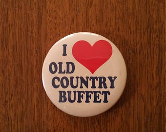 Vintage Old Country Buffet Pin - Weird 1980s 1990s