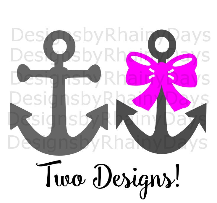 Buy 3 get 1 free! Anchor with bow and anchor cutting file, Summer SVG, DXF, png, anchors, bow anchor, plain anchor, boy, girl, design