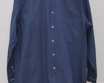 Vintage blue shirt  CACHAREL Size 16 1/2 42