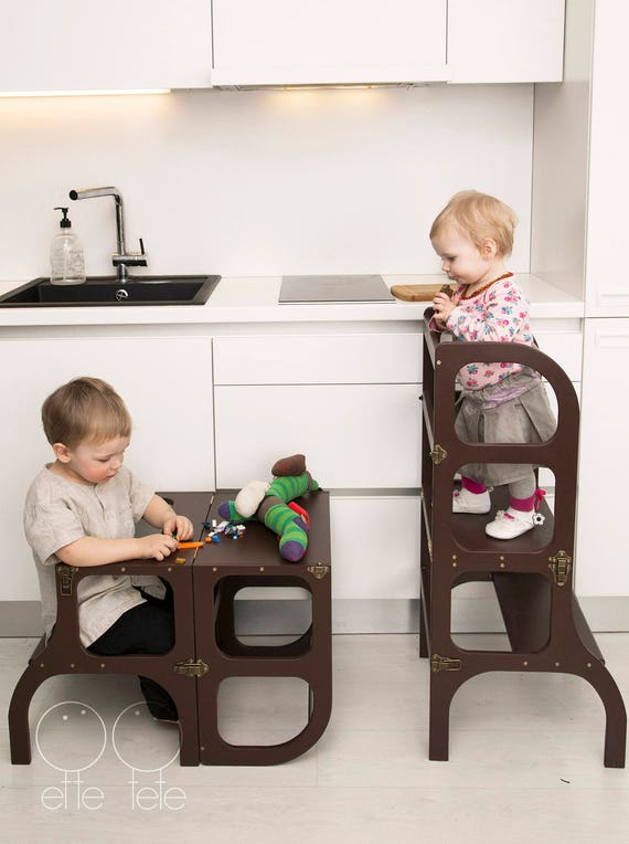 Little Helper Tower Table Chair All In One