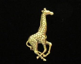 Giraffe 24 Karat Gold Plate Large Giraffe Pin Brooch Collectable Zoo African Animal PG192