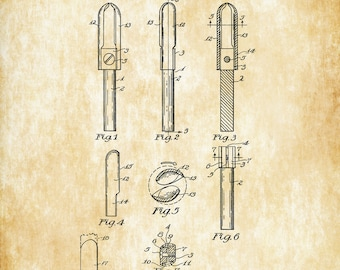 Wood Carving Tool Patent 1940 - Workshop Decor, Woodworking, Patent Print, Vintage Tools, Garage Decor, Tool Poster, Tool Art