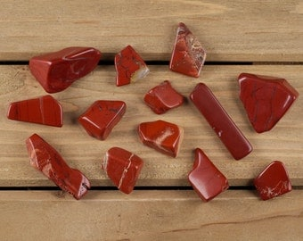 30g Lot RED JASPER Polished Stones - Tumbled Red Jasper, Polished Red Jasper Stones, Tumbled Stone, Chakra Stone, Healing Stone E0021