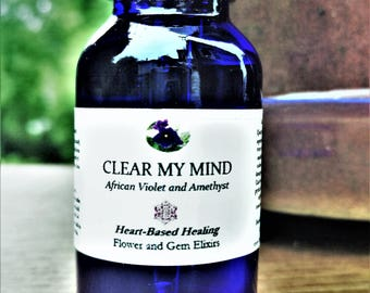 Clear My Mind Flower Essence and Crystal Elixir