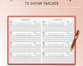 Traveler's Notebook B6 TV Show Tracker Insert Printable