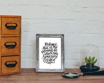 Esther 4:14 Bible Verse Printable