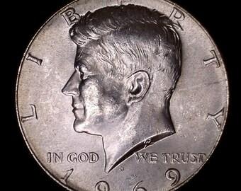 1969 Kennedy Half Dollar 40% Silver