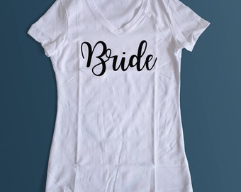 Bride Bridesmaid Maid of Honor Personalized shirts, bachelorette, bride to be shirts, bridal party