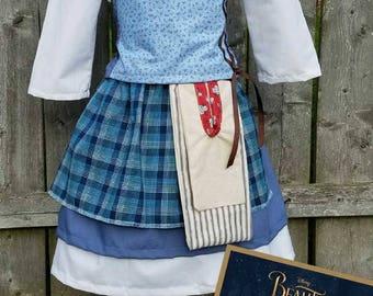 Belle Costume, Belle Blue Dress, Beauty and the Beast Belle Dress, Belle Work Dress, Disney Belle Dress, Belle Village Dress