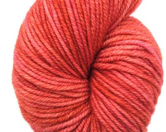 Hand-dyed Worsted Yarn, Hand-dyed Yarn, 100% Superwash Merino, Indie Dyed Yarn, Worsted Weight Yarn, Fire