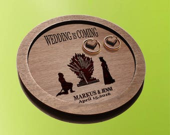 game of thrones  ring dish / wedding ring plates / ring plates / game of thrones weddin /  ring bearer pillow / Personalized ring holder