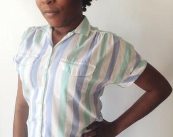 Lightweight Striped Button Up