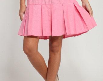 Pink tennis skirt | Etsy