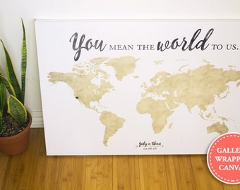 Wedding guest map wedding guest book alternative wedding world map wedding guest book guest book alternative you mean the world to us gumiabroncs Images