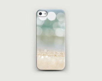 Sparkle sand iPhone 6 case Beach iphone 6s plus Green Pastel Soft case iPhone 5s Abstract Sand Sparkle iPhone iphone 5 photo art