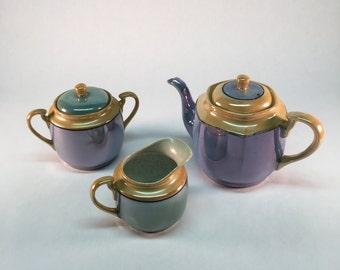 Lustreware tea set