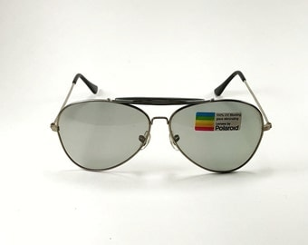 Vintage Polaroid Sunglasses Aviator 100% UV Blocking Unworn Condition