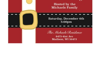 Christmas Party Invitation, 5x7