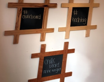Hashtag Chalkboard